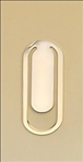 Gold-plated brass bookmark.  Solid brass gifts are suitable for engraving.  1/8 thick.  Makes a wonderfully useful gift!  Individually boxed.