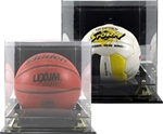 Elegant Display Case with Mirror back. Clear attractive display for either Basketball, Soccer Ball or Volleyball. Mounted on a ebonyacrylic base to showcase that special achievement while keeping your cherished memory protected.