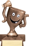 This cute Bronzestone participation award has a star shaped base and is great for a youth award. Personalization plate included.