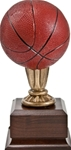 Wow! This mini basketball award has excellent detail and color. The 9 high replica will make a perfect team trophy. Area on base can be personalized.