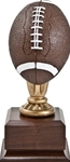Wow! This mini football award has excellent detail and color. The 9 high replica will make a perfect team trophy. Area on base can be personalized.