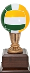 Wow! This mini volleyball award has excellent detail and color. The 9 high replica will make a perfect team trophy. Area on base can be personalized.