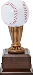 Wow! This mini baseball award has excellent detail and color. The 9 high replica will make a perfect team trophy. Area on base can be personalized.