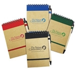 80-page notebook features recycled paper, a cover made from 100% recycled material and a coordinating recycled penNo pen substitutions or pen imprint available