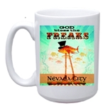 15 oz White Deco Mug