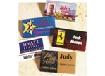These digitally printed name badges and name tags come in a  variety of shapes, colors and sizes; and are perfect for photographs, business logos, ID numbers and more.