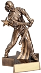 Bronze-colored Baseball resin awards. Youll feel like you are still at the game with this Lifelike Baseball Award. Unique star shaped base has an area for personalized plate.