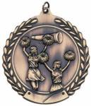 Cheerleader Low Relief Medals