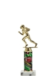 This new award is a Classic. With the round photo column paired with the football trophy figure. Gold-tone personalization plate is applied to solid marble base.